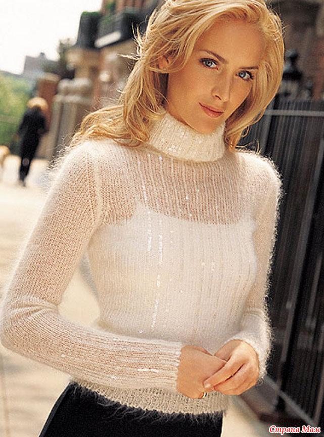 Вязание из мохера свитеров 918