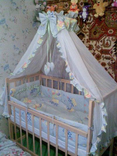 Сделать балдахин детскую кроватку своими руками