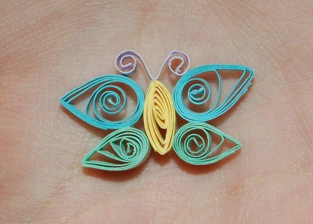Как делать бабочку из квиллинга схемы