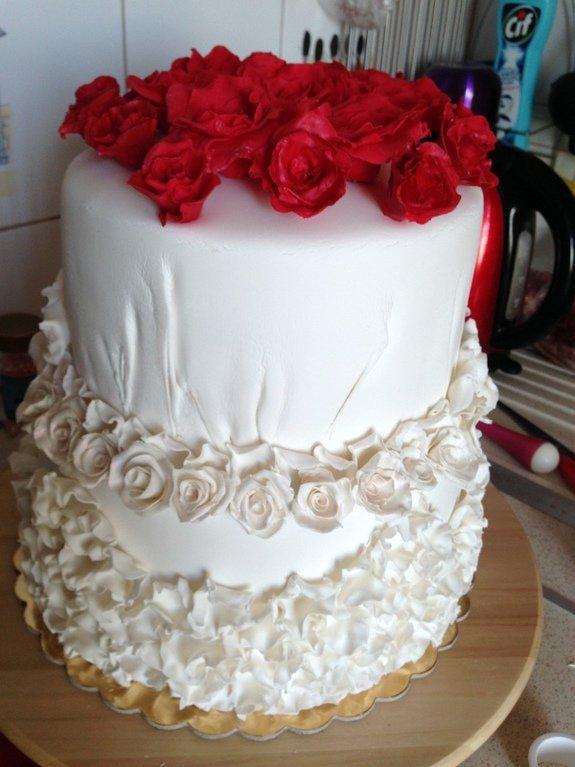 Свадебный торт своими руками рецепт с фото 66