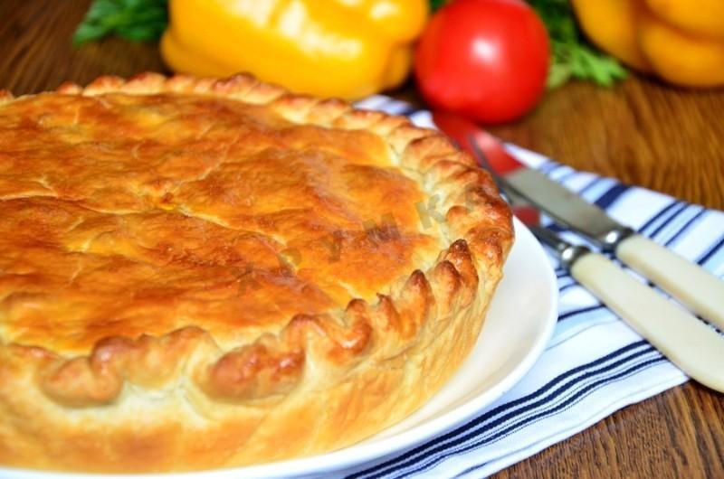 Пирог с картошкой и грибами пошаговый рецепт с