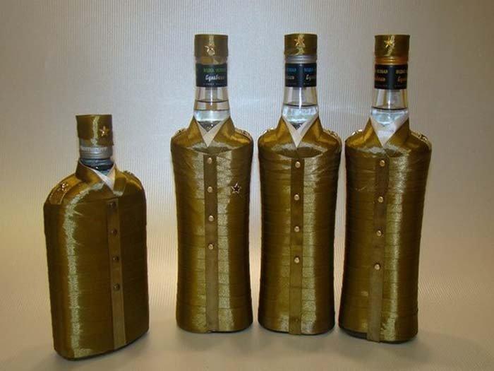 Декор бутылки водки