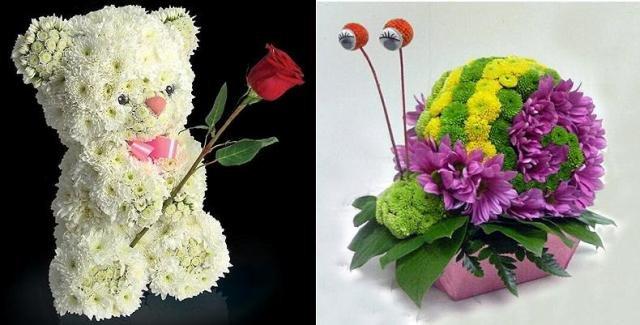Поделка из цветов своими руками для детей 1