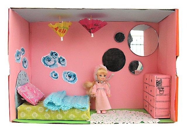 Как сделать из коробков мебель для кукол своими руками 22