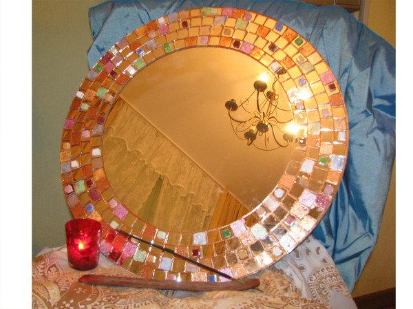 Декор круглого зеркала мастер класс
