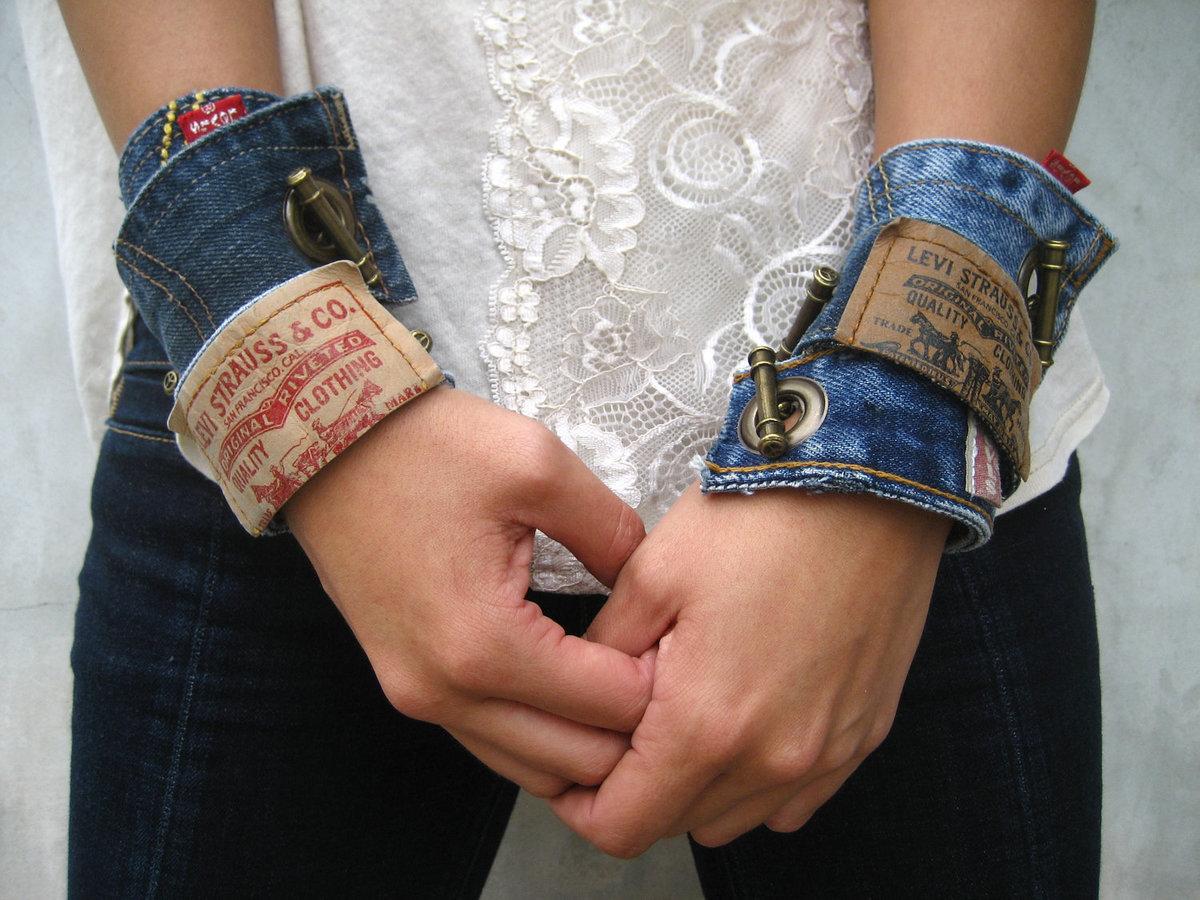 Браслеты своими руками джинсы