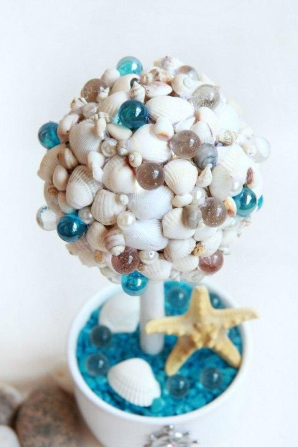 Дерево своими руками из морских ракушек