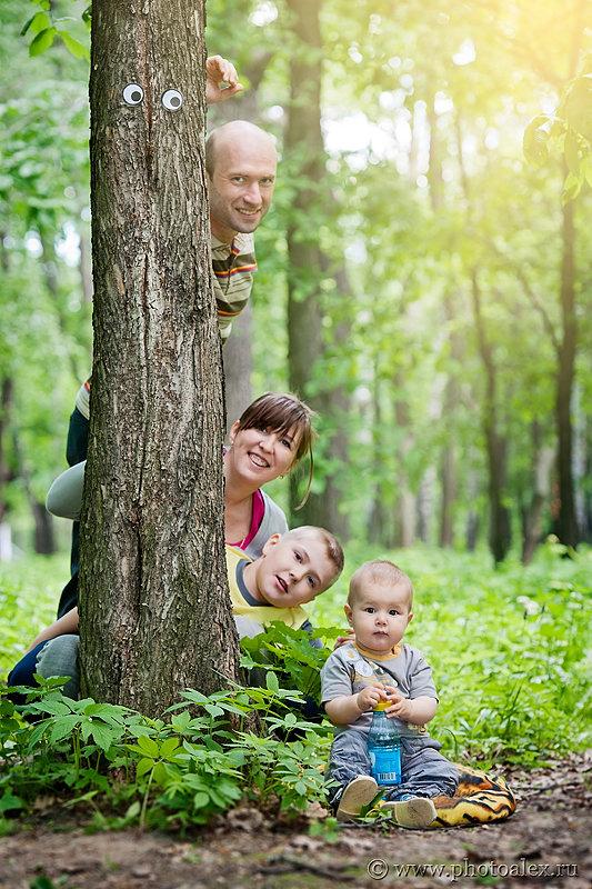Семейные фото в парке идеи