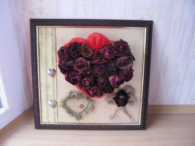Поделки из сухих лепестков розы 32