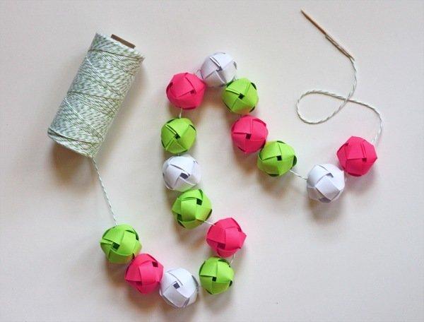 Гирлянды шарики из бумаги своими руками