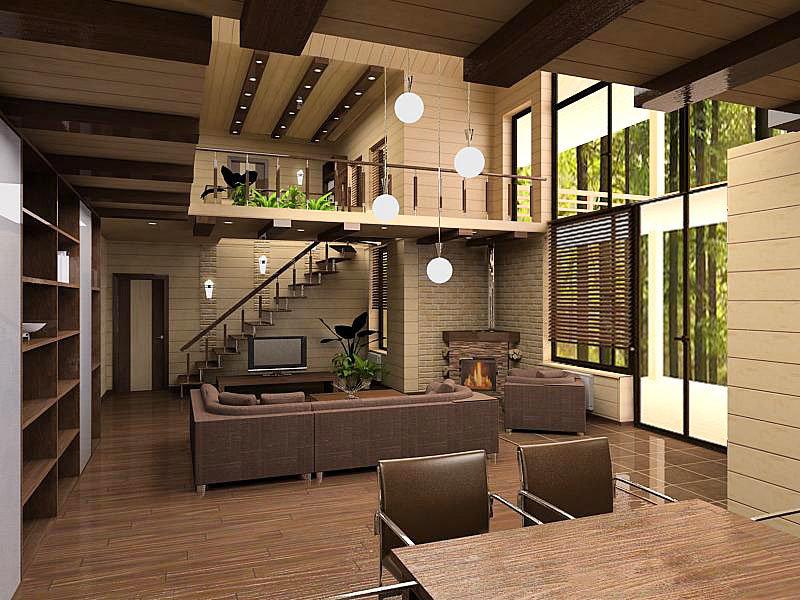 Загородный дом дизайн внутри