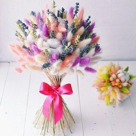 Букеты из сухоцветов своими руками мастер