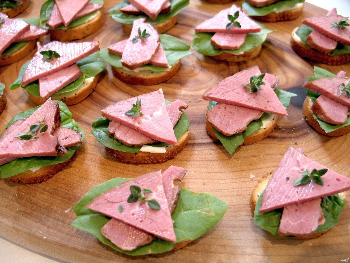 Праздничные бутерброды фото пошаговое