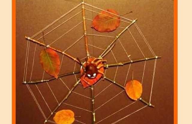 Поделка паутина с пауком