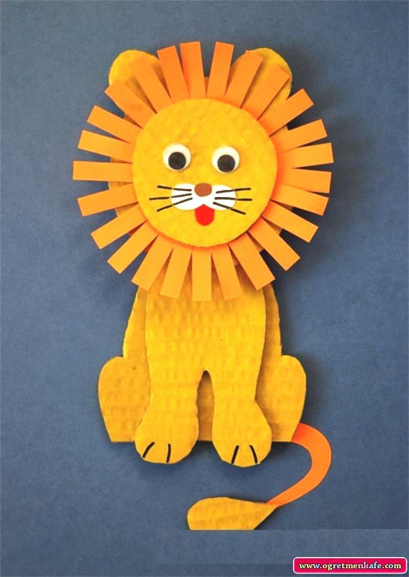 Поделки из цветной бумаги для детей