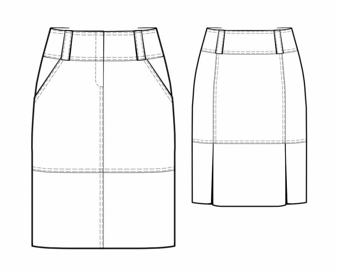 Как сшить юбку накладную 381