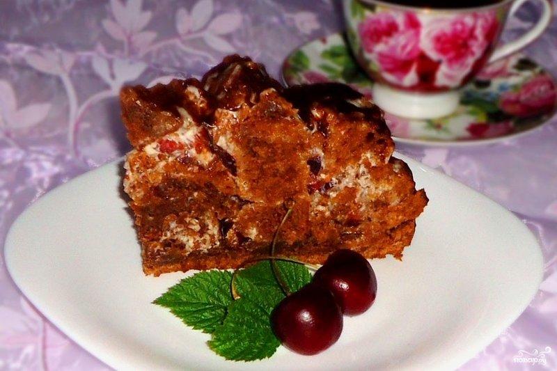 Торт кучерявый пинчер с вишней рецепт с фото пошагово