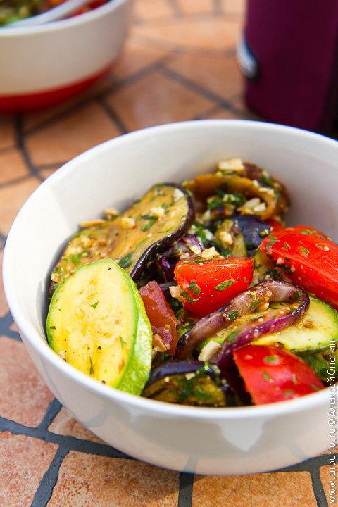 Салаты из овощей гриль рецепты с