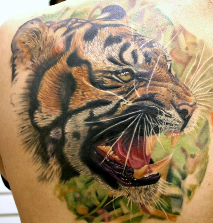 Фото эскиз тату тигра 82