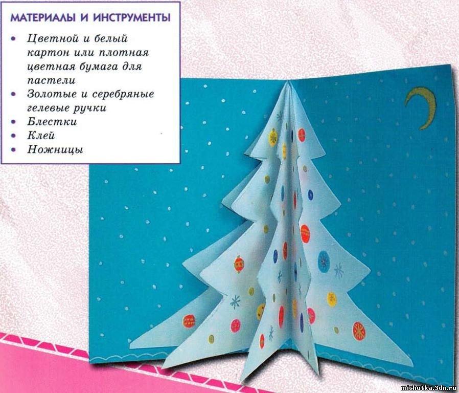 Детская новогодняя открытка своими 751