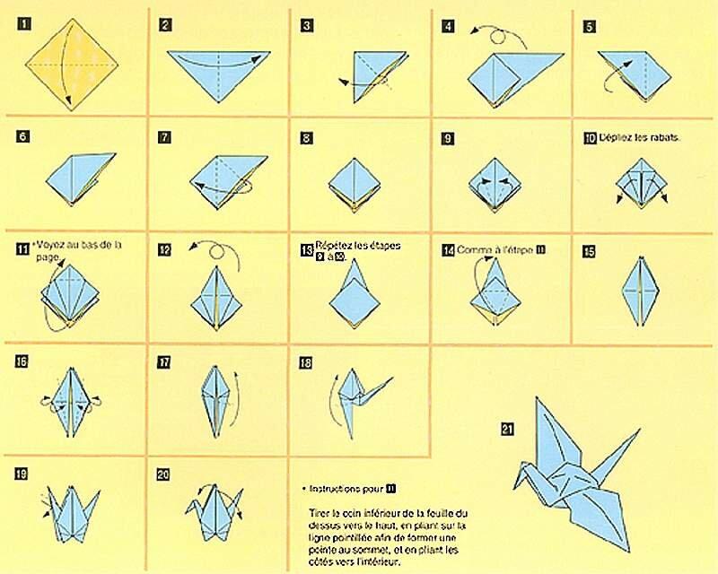 Как сделать бумажный журавлик