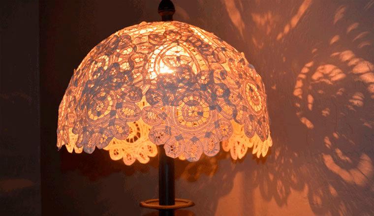 Плафон на настольную лампу своими руками 14
