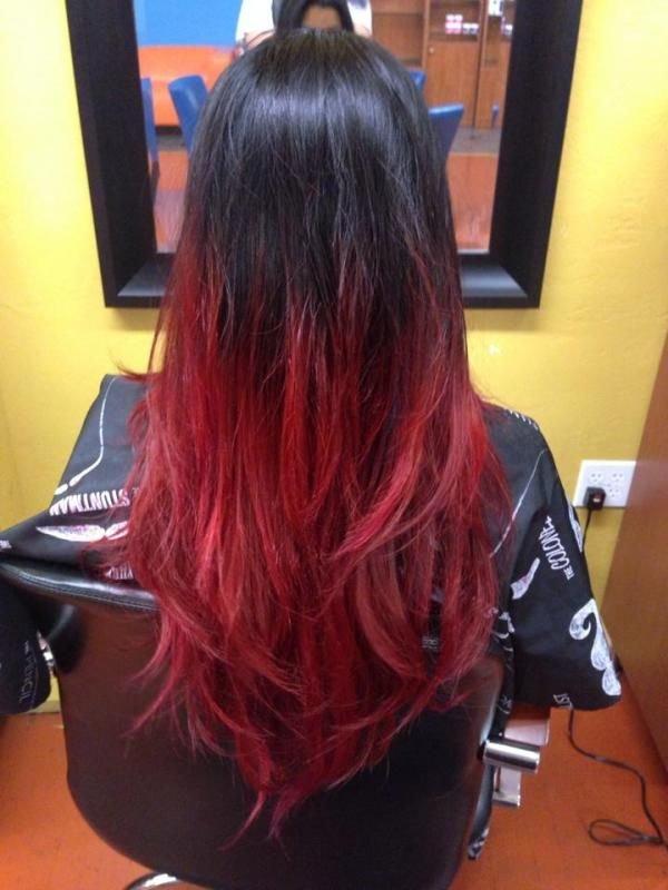 Как покрасить концы волос в красный цвет в домашних условиях