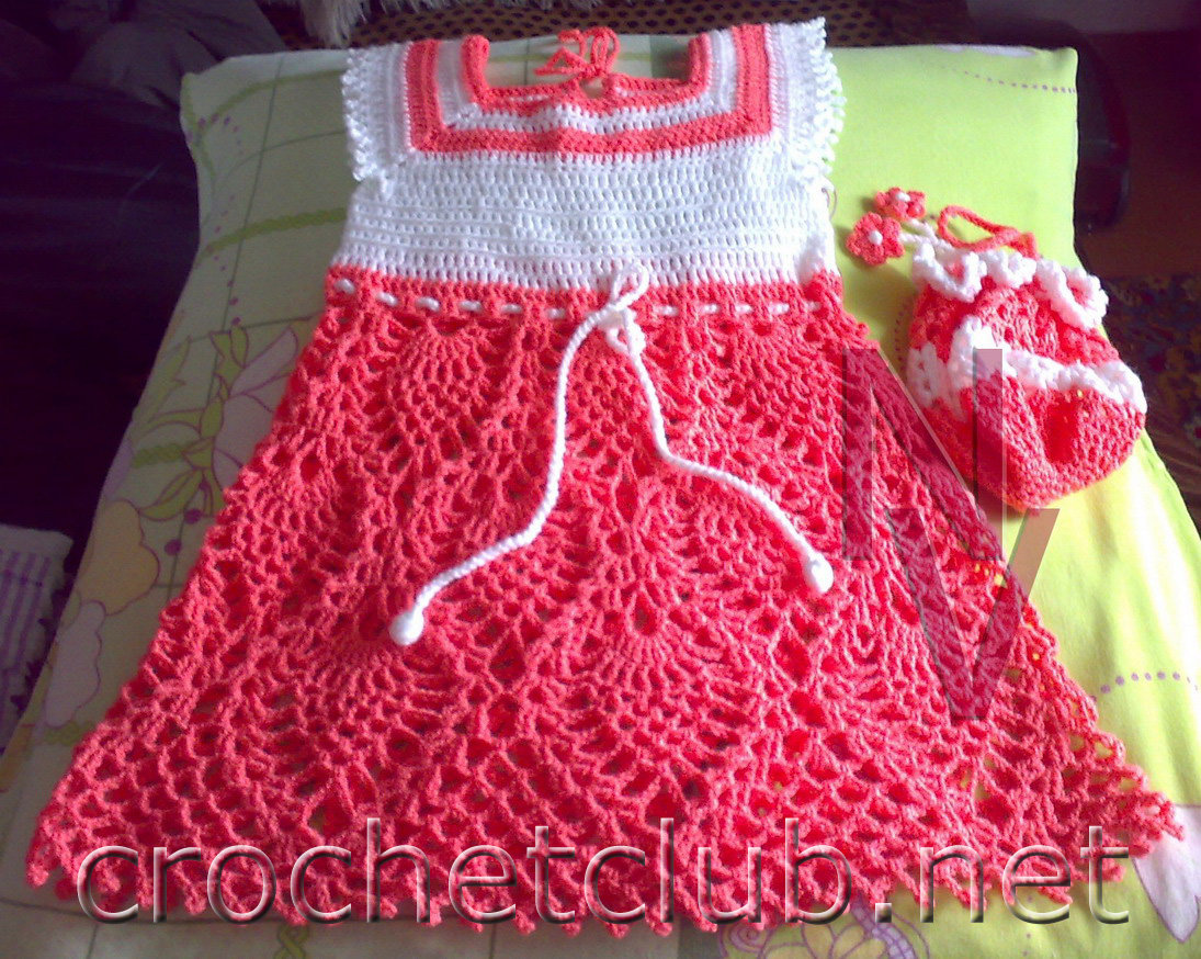 Вязание детского платья сарафаны 235