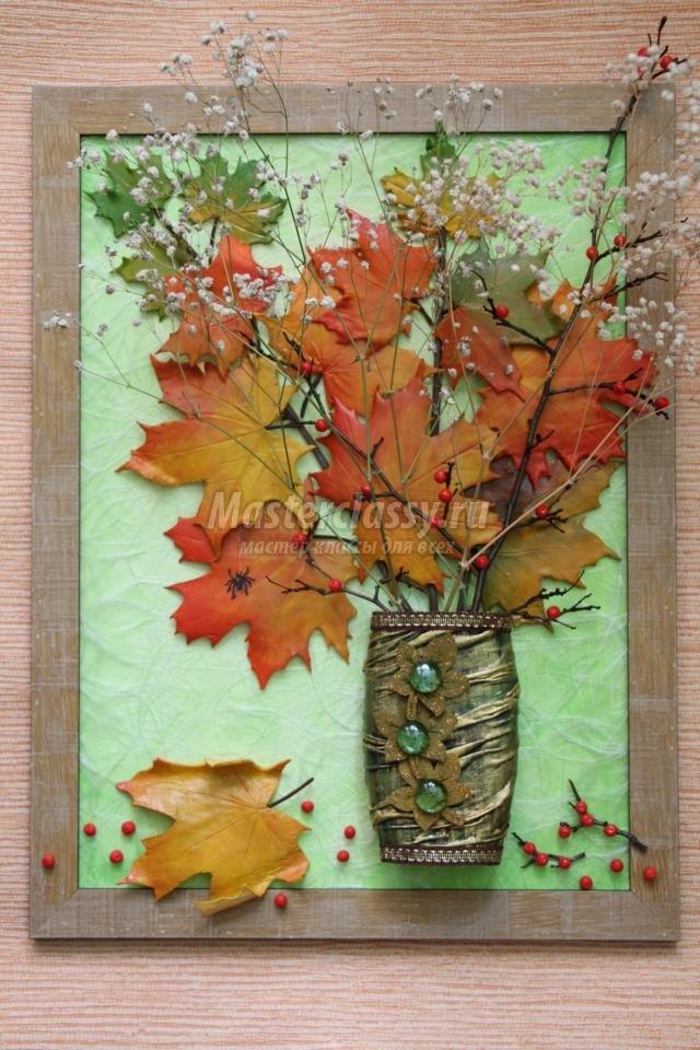 Картины из осенних листьев своими руками 31