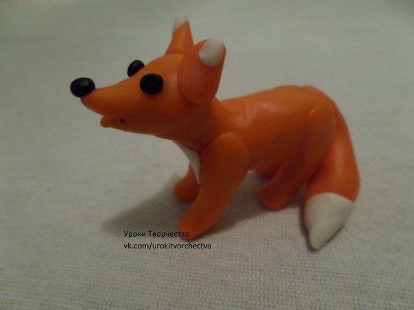 Как сделать лисички из пластилина