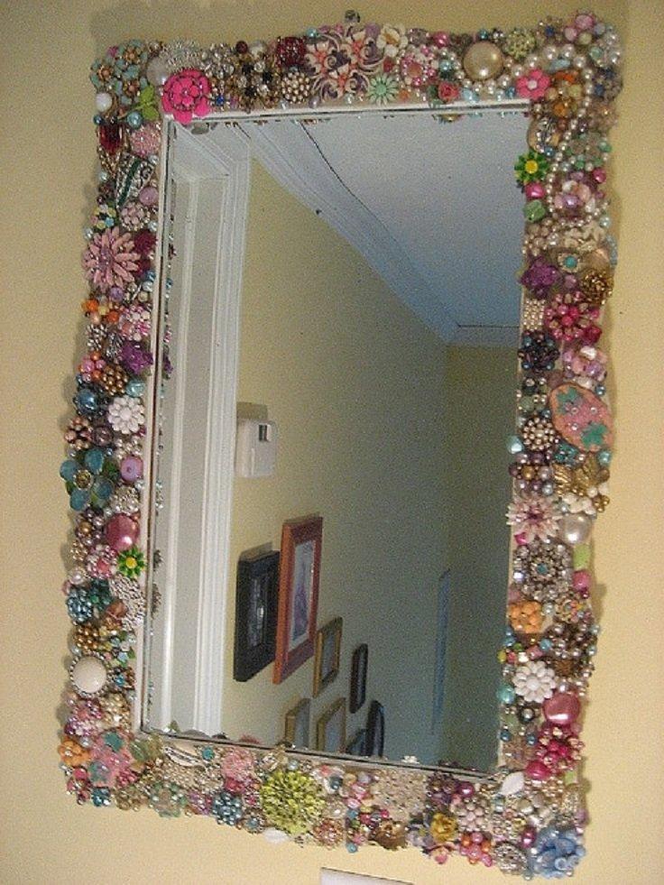 Оформление для зеркал своими руками 574