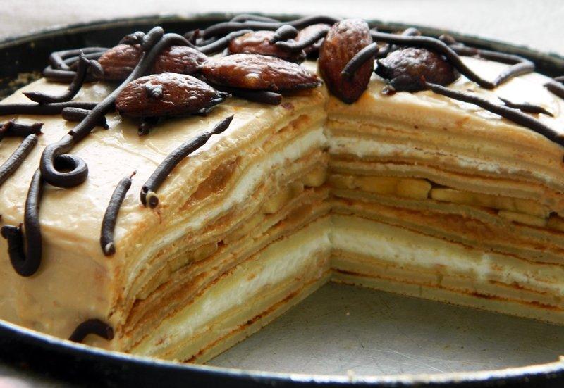 Блинный пирог с сгущенкой рецепт с