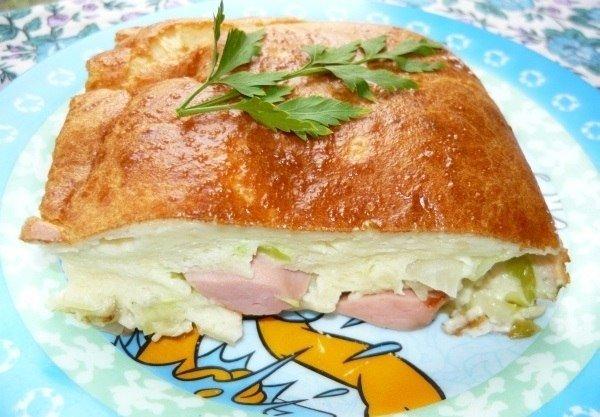 Пирог с капустой заливной на сметане рецепт пошагово