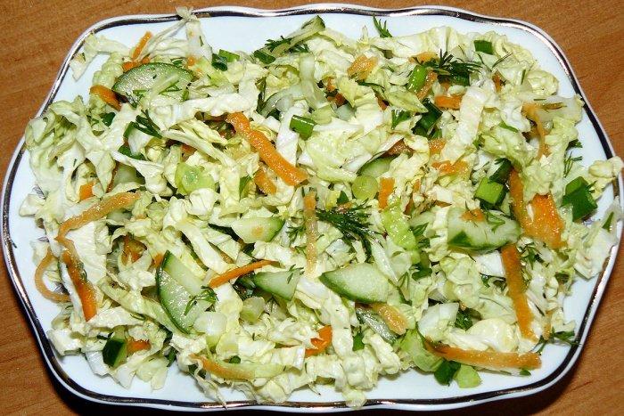Салат из пекинской капусты кудрявый рецепты с простые и вкусные