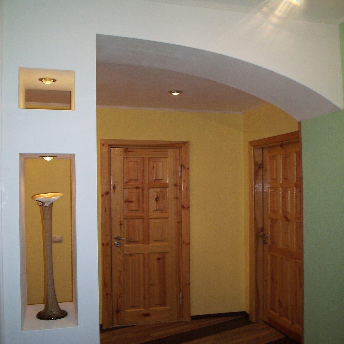 Дизайн прихожей с арками в реальных квартирах