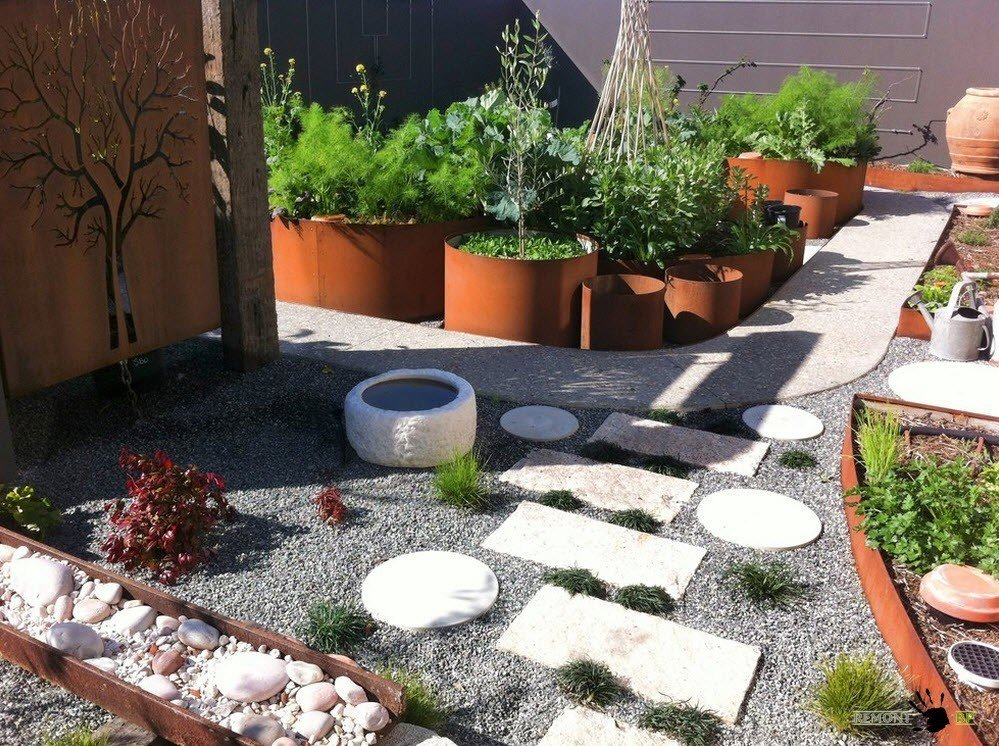 Ландшафтный дизайн двор частного дома своими руками фото