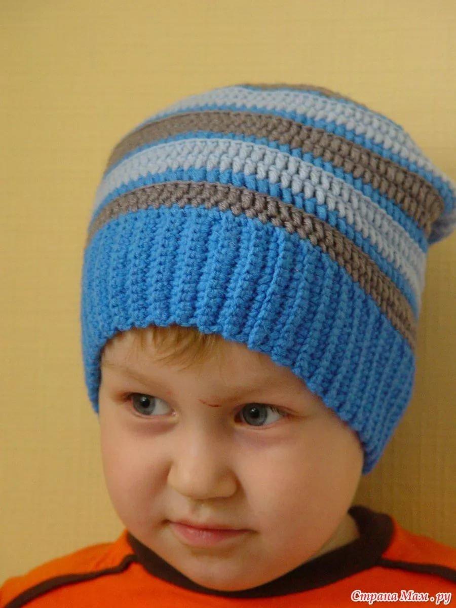 Детские шапочки, шарфики и береты спицами или крючком с 51