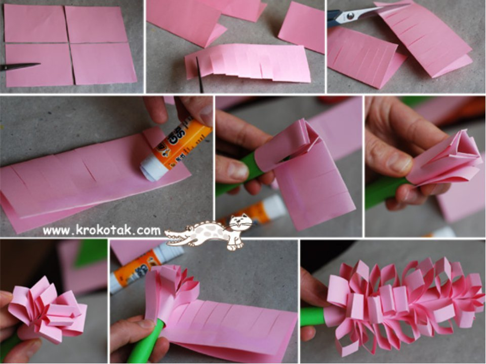Сделать цветок подарок 43