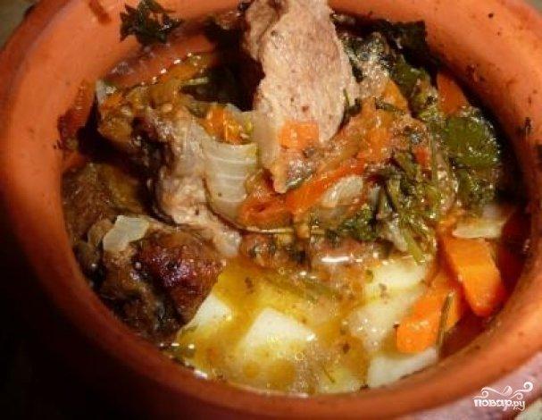 Горшочки в духовке с говядиной и картошкой рецепт с пошагово