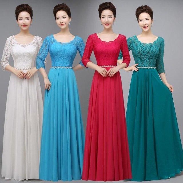 Длинные платья скромные