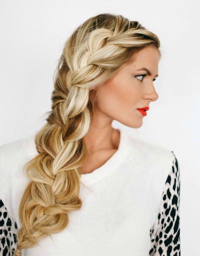 Прически на длинный волос с объемной косой
