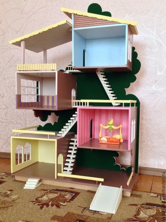 Изготовление кукольного домика своими руками из