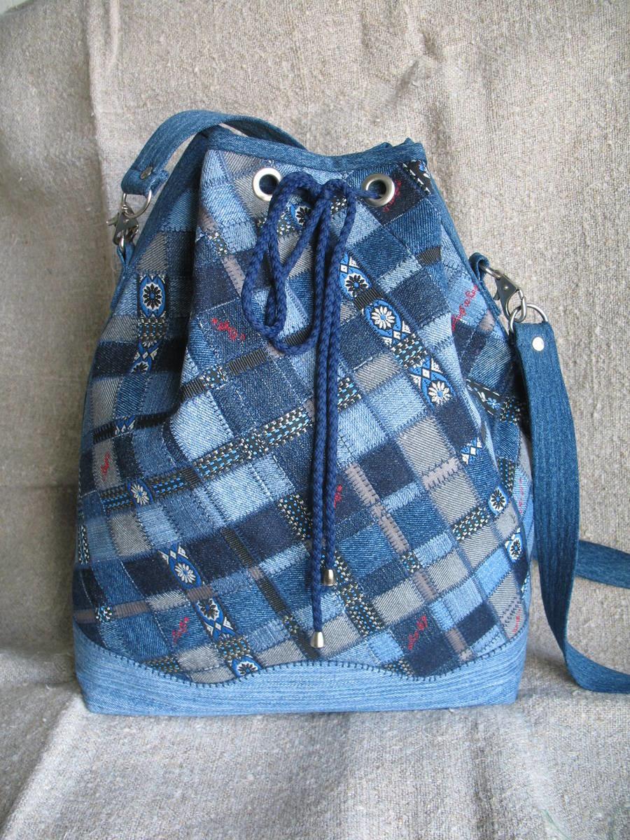 Джинсовые рюкзаки своими руками для мальчиков6