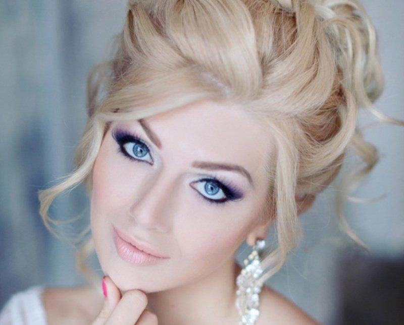 Свадебный макияж для блондинок с фото 57