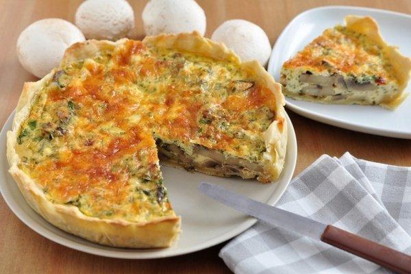 Пирог жульен с грибами рецепт с