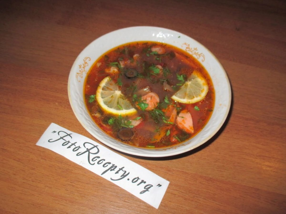 Солянка из мяса и колбасы пошаговый рецепт