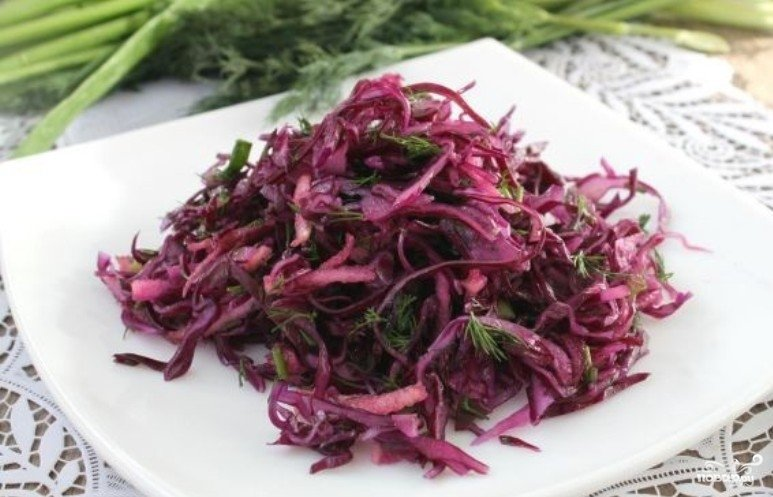 Салат из капусты к шашлыку рецепт
