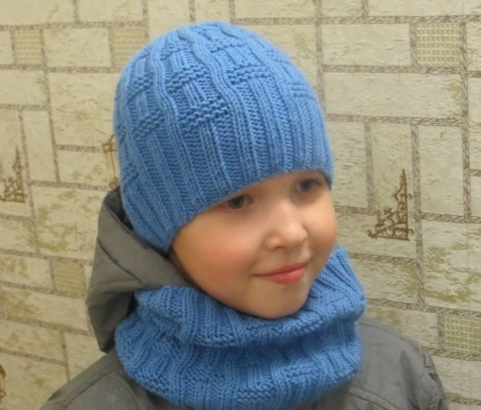 Вязание шапок для мальчика видео 39