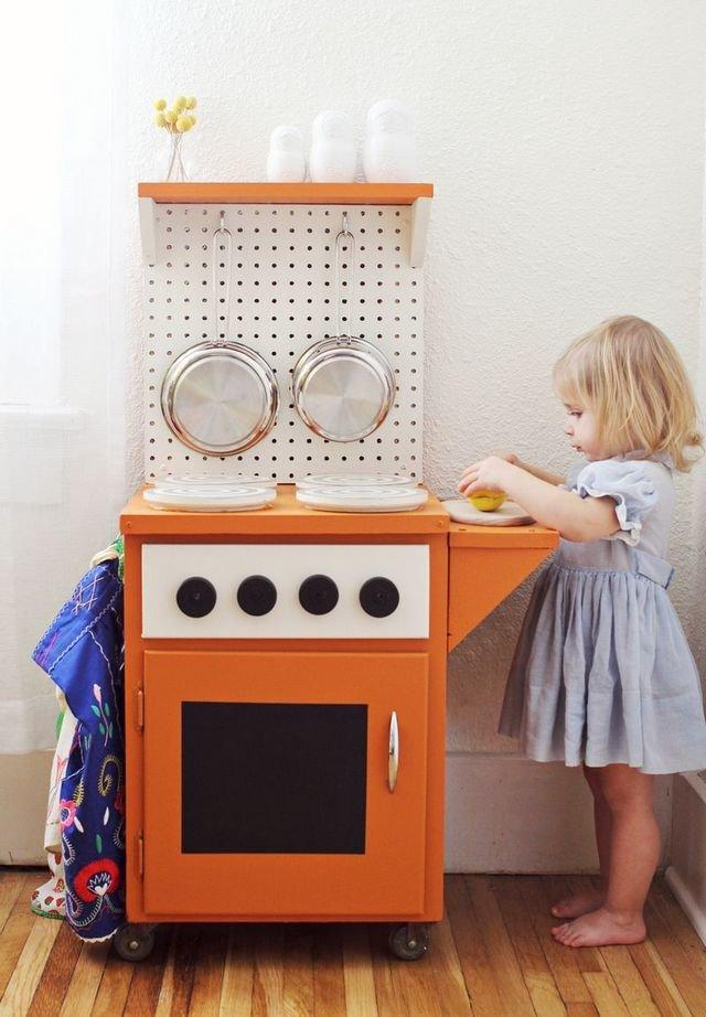 Кухонная плита для ребенка своими руками