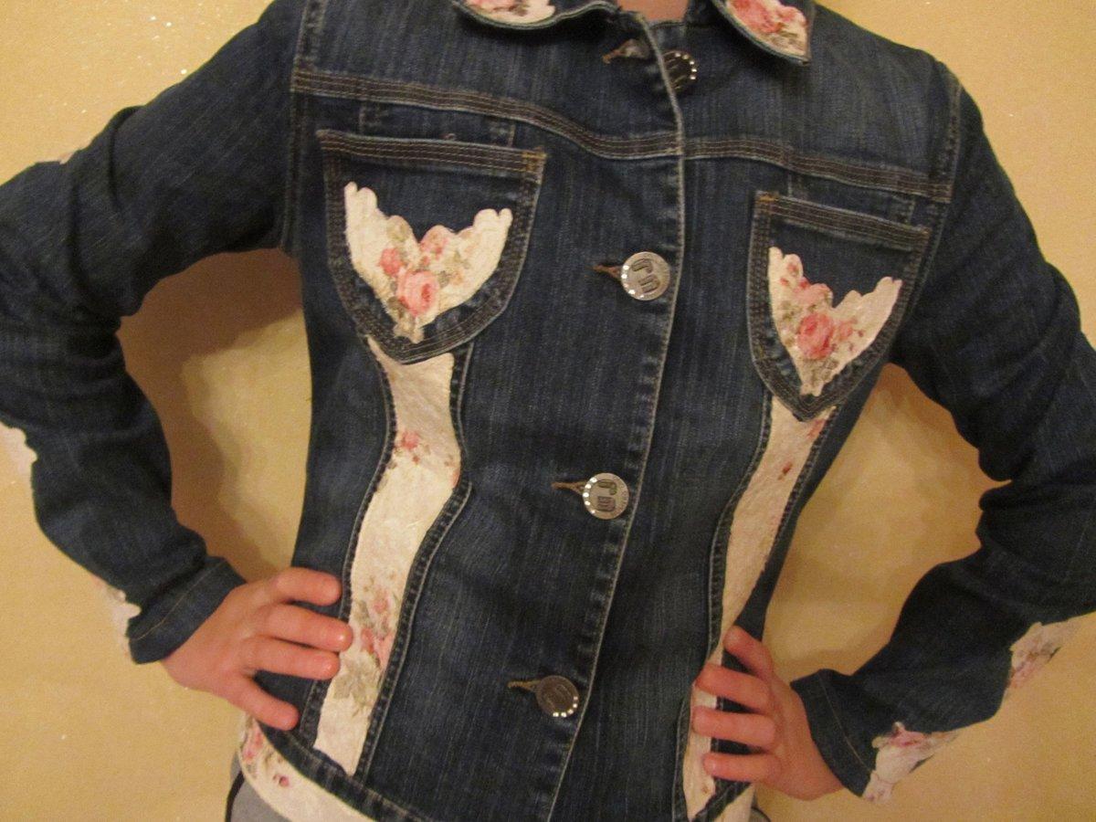 Джинсовая жилетка из куртки своими руками фото